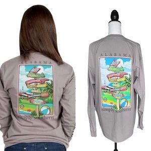 Simply Southern Alabama State Long Sleeve Top Sm